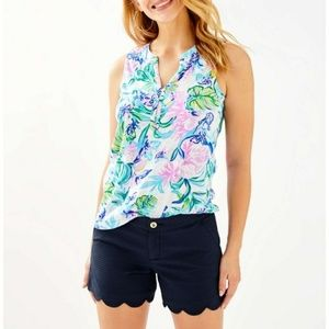 LILY PULITZER BUTTERCUP SHORTS NAVY BLUE SIZE 6